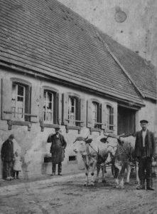 Brunnenstr. 10 1924 Sebastian Händel mit Fuhrwerk