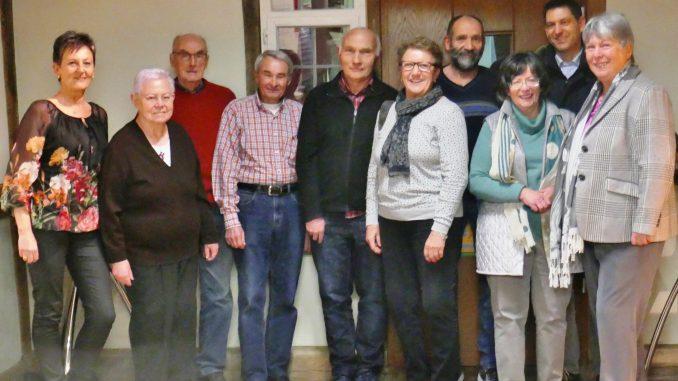 Von li.n.re.: Beate Harder, Maria Staudt, Oskar Reiser, Bruno Böser, Wolfgang Geiger, Silvia Fischer, Wolfgang Stier, Inge Blumhofer, Uwe Sparn, Ursula Hohl