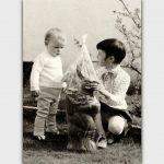 Osterhase 1966, Rolf Steimel und Schwester Ute