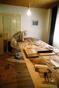 Bertold Barth bei der Arbeit