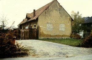 Hirschstr. Nr. 57 Farrenstall 1983 kurz vor dem Abriss