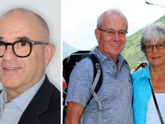Links: Freddy Sicko; rechts: Siegmund und Ute Brunner