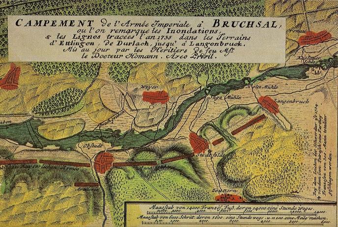 Französische Karte von 1735. Quelle: Ortsbuch 1200 Jahre Zeutern